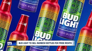 Bud Light to sell rainbow bottles for pride month