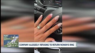 Woman says engagement ring is being held hostage