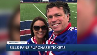 Bills fans purchase tickets to playoff game