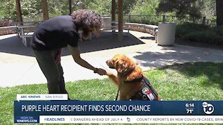 Purple heart recipient finds second chance