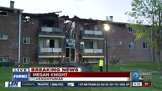 Five injured including a firefighter after flames burn through a Randallstwon apartment building