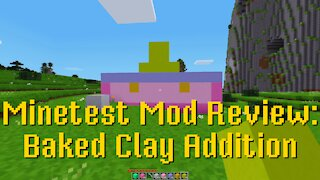 Minetest Mod Review: Baked Clay Addition