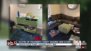 Victim of property theft shares her story