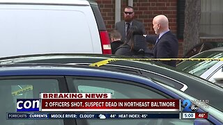 Officers injured in Northeast Baltimore shooting, suspect killed