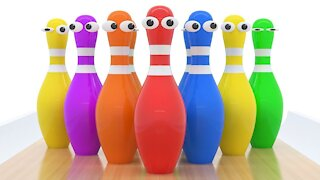 Learn Colors with Funny 3D Bowling Game for Kids