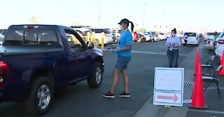 Steady stream of voters dropping off mail-in ballots in Las Vegas