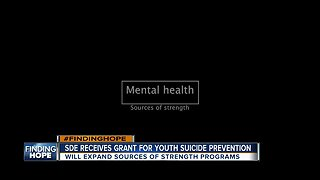 SDE receives grant for youth suicide prevention