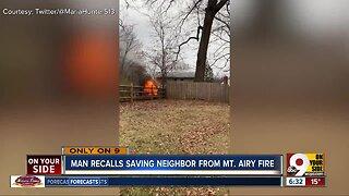 Man recalls saving neighbor from Mt. Airy fire