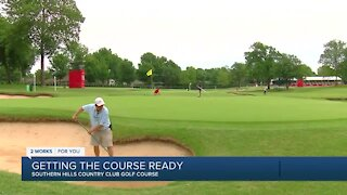 Preparing Southern Hills golf course for Senior PGA