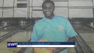 Five dead after fiery crash near Fort Pierce