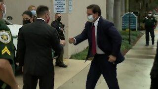 Florida Gov. Ron DeSantis meets with Mayor Dave Kerner