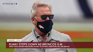 Elway steps down as Broncos GM