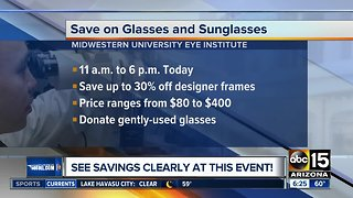 Save on glasses, sunglasses on Thursday