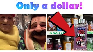 Reviewing hand soap from the Dollar Tree