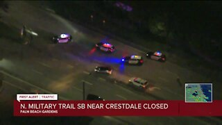 Crash closes Military Trail southbound in Palm Beach Gardens