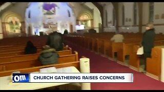 Church gathering raises concerns