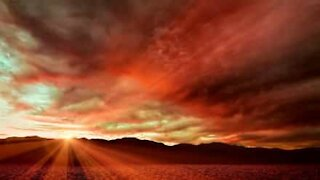 Gorgeous sunset in Death Valley, California