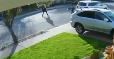 INSTANT Regret After Hoodlum Tries to Rob a Man at Gunpoint - Listen to Him Squeal Like a Pig