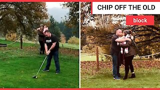 Couple reveal gender of their child by smashing a GOLF BALL