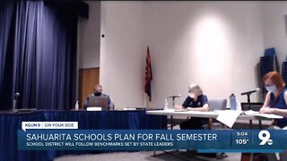 Sahuarita Unified School District discusses distance, in-person learning for upcoming school year
