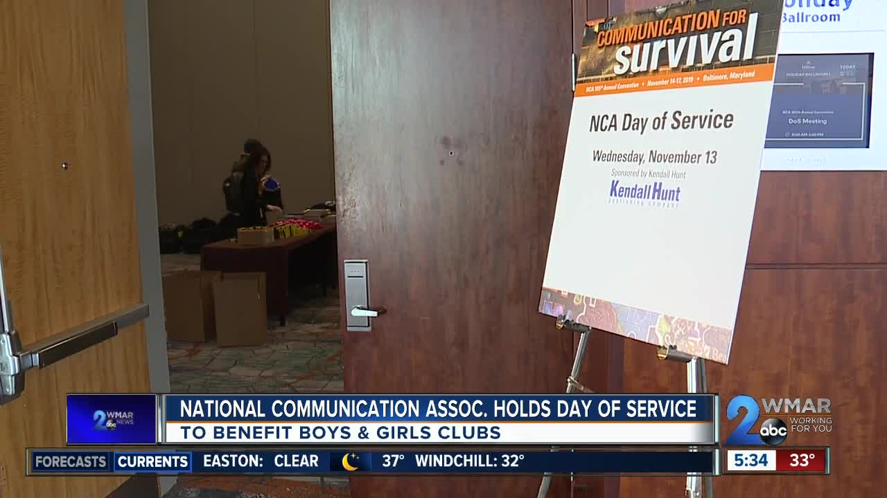 National Communication Association holds day of service