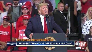 President Trump announces re-election bid at Orlando rally