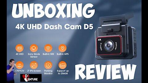 Kingslim D5 4K Dash Cam: Unboxing Review