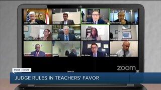 Judge rules in teachers' favor