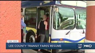 Lee County Transit fares resume