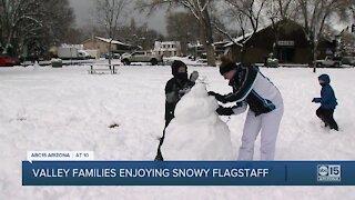 Valley families enjoying Flagstaff snow