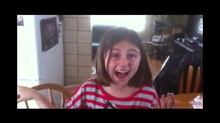 Girl has Amazing Reaction to Surprise