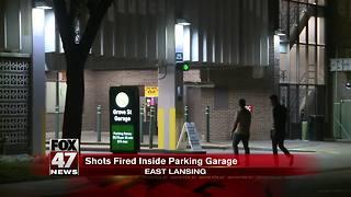 Shots fired inside parking garage in East Lansing