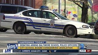 Baltimore school board reconsiders arming school resource officers