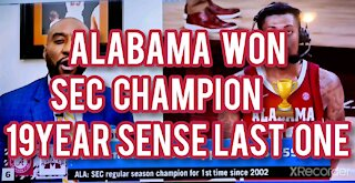 ALABAMA WINS SEC BASKETBALL CHAMPIONS