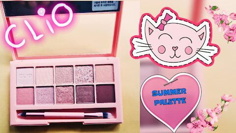 Swatch & review CLIO Pro eye palette - your summer look essential
