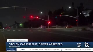 Man arrested after leading police on a chase in stolen car
