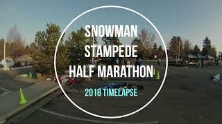 Snowman Stampede Half Marathon - 2018 Timelapse