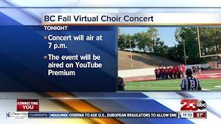 BC Choir concert streaming tonight