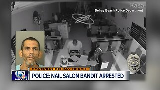 Burglary suspect arrested after break-in at Palm Beach Nail Salon in Delray