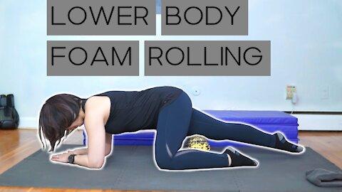 Foam Rolling the Legs
