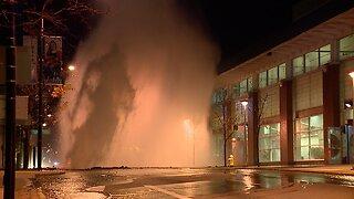 Water main break on south high street in Akron