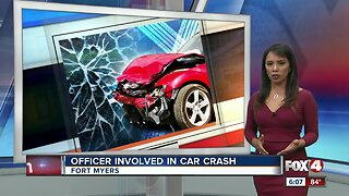 Fort Myers Officer involved in car crash