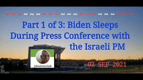 Part 1 of 3: Biden Sleeps During Press Conference with Israeli PM