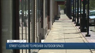 Street closure in Barberton will provide outdoor space for restaurants