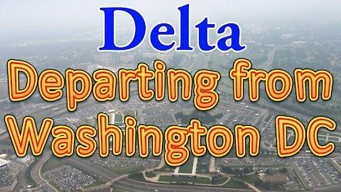Delta flight departing from Washington DC (DCA)