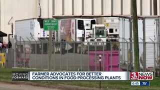 Farmer advocates for better conditions in food processing plants