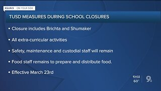 TUSD measures during statewide school closures