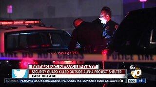 Alpha Project security guard shot, killed