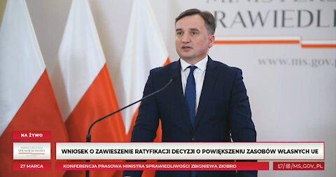 Minister Zbigniew Ziobro o Europejskim Funduszu Odbudowy