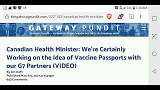 Globalists Are Discussing Vaccine Passports...
